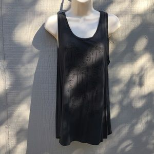 Old Navy Charcoal Black Sleeveless Top